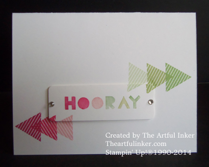 Geometrical Hooray CAS card