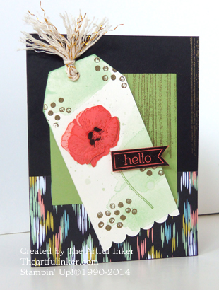 Happy Watercolor and Sweet Sorbet card