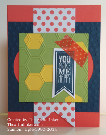You Make Me Happy card with Retro Fresh washi