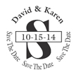 Save the Date Personalized Stamp