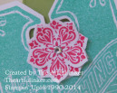 Close up of embellishment on Scallop Tag Topper Punch box