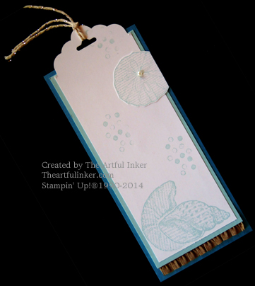 By the Seashore bookmark by theartfulinker.com
