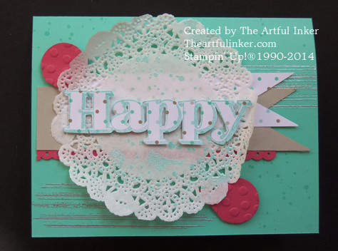 Happy Card full of texture