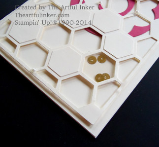 Hexagon Hive Window with Sequins