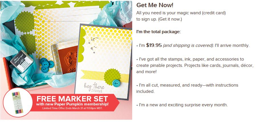 Free Markers with Paper Pumpkin Subscription