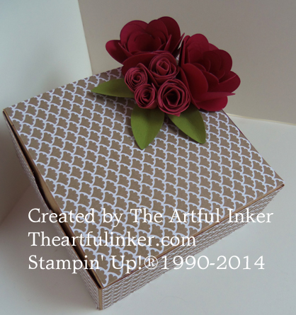 Top of Giftbox with Rose embellishment