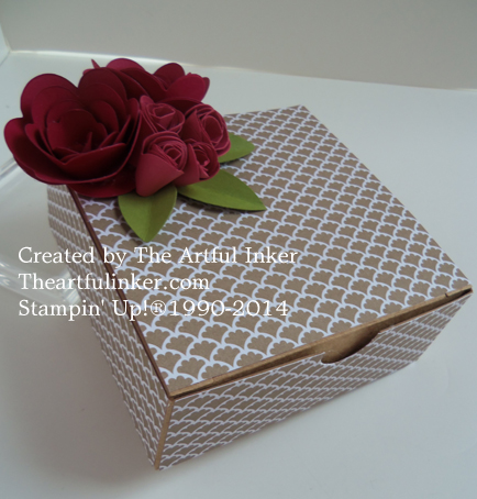 Gift Box with Rose embellishment