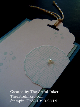 Top of By the Seashore bookmark by theartfulinker.com