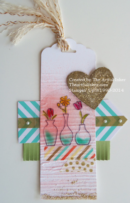 Vivid Vases Tag for #stampingsunday