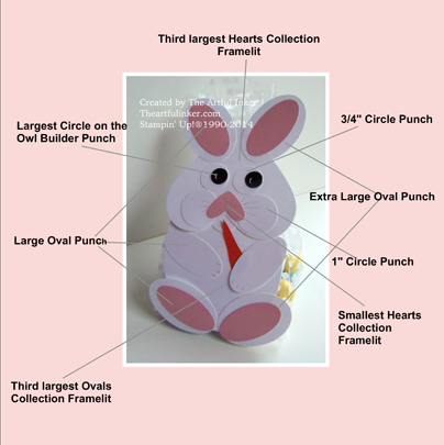 Bunny Treat Bag Diagram by theartfulinker.com
