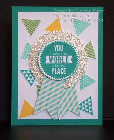 Geometrical and Starburst Sayings card by theartfulinker.com