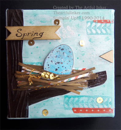 Spring Mixed Media by theartfulinker.com using Backyard Basics