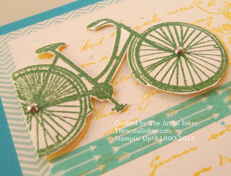 Dimensional Bicycle - Postage Due for #stampingsunday from theartfulinker.com