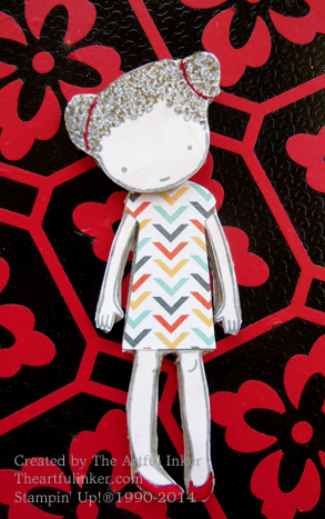 Sweetie Pie Stylin' Girl Pin from theartfulinker.com