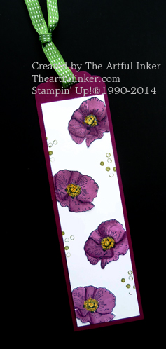 Happy Watercolor Bookmark from theartfulinker.com