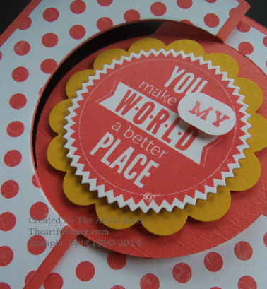 Detail of the Circle Card Thinlit Mother's Day card from theartfulinker.com