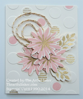 Elegant Flower Patch card from theartfulinker.com