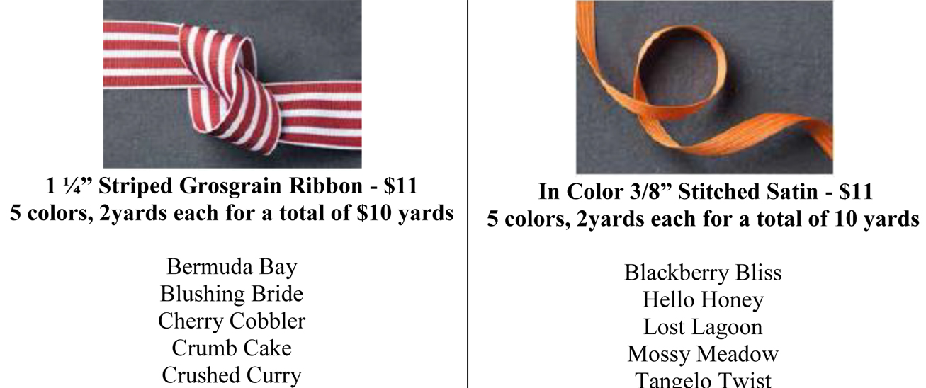 Grosgrain and Stitched Satin Ribbon Shares
