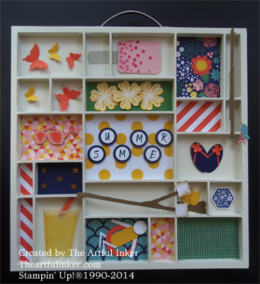 Summer Printer's Tray from theartfulinker.com
