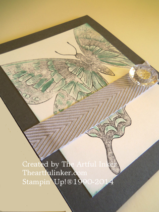 CAS Swallowtail Card angled view from theartfulinker.com