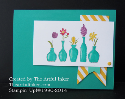 Vivid Vases and Banners card from theartfulinker.com