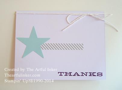 July, 2014 Paper Pumpkin Kit card from theartfulinker.com