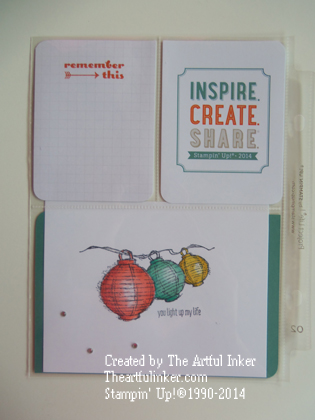 Project Life by Stampin' Up! Convention layout from theartfulinker.com