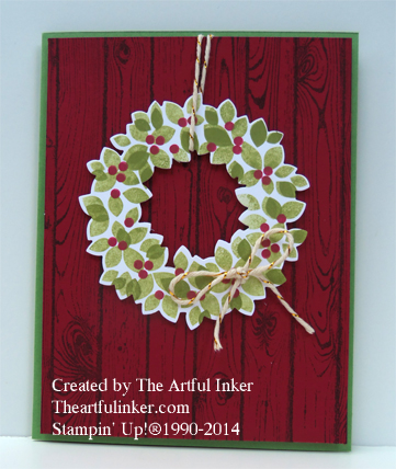 Wondrous Wreath: Christmas in July from theartfulinker.com