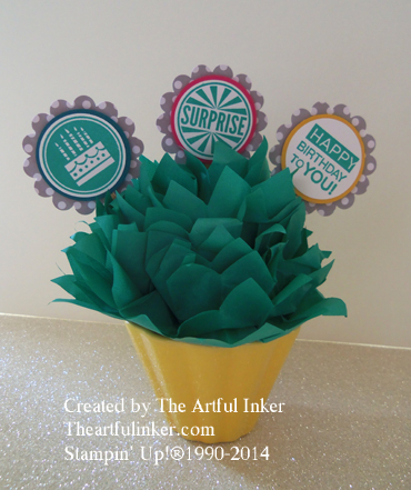 Amazing Birthday cupcake toppers from theartfulinker.com