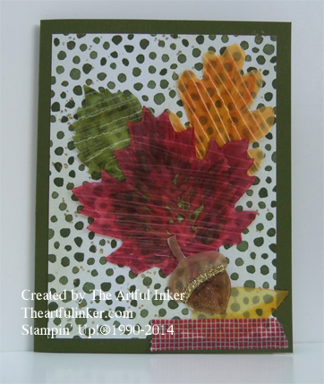 Autumn Accents and Blendabilities card from theartfulinker.com