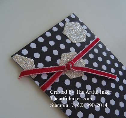 Back to Black Gift Card Holder detail from theartfulinker.com