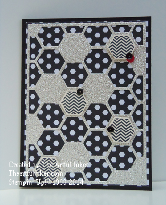 Back to Black card for #stampingsunday from theartfulinker.com