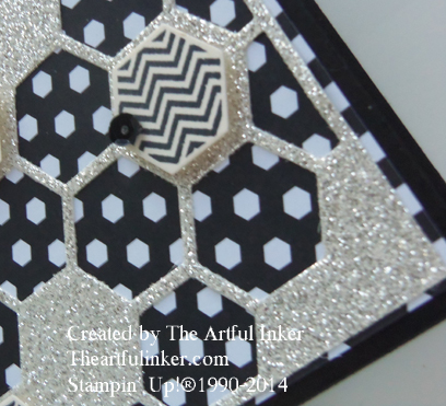 Detail of Back to Black card for #stampingsunday from theartfulinker.com