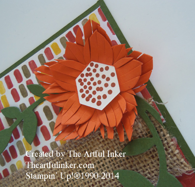 Fall Flower Frenzy card, flower detail from theartfulinker.com