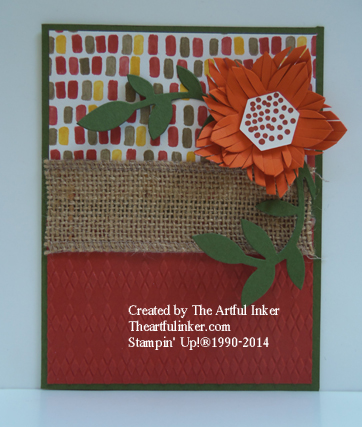 Fall Flower Frenzy card from theartfulinker.com