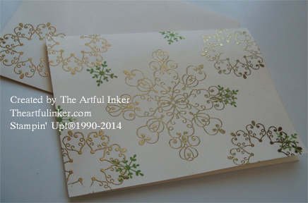 Gold Letterpress Winter card from theartfulinker.com