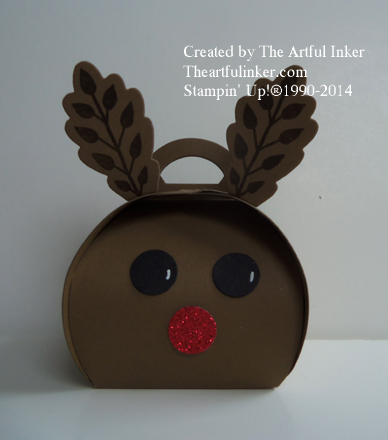 Rudolph Curvey Keepsake Box from theartfulinker.com