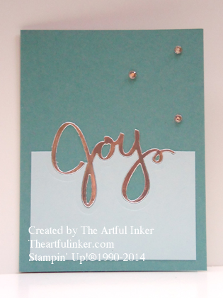 Wonderful Wreath Joy card (masculine) from theartfulinker.com