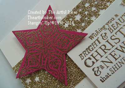 10 Days of Christmas, Card 3 angled - using Bright and Beautiful from theartfulinker.com