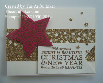 10 Days of Christmas, Card 3 using Bright and Beautiful from theartfulinker.com