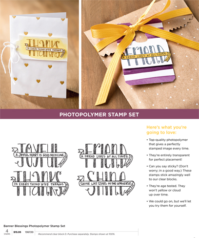 Banner Blessing Photopolymer Stamp Set