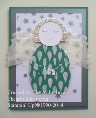 10 Days of Christmas, Card 10 Angel from theartfulinker.com