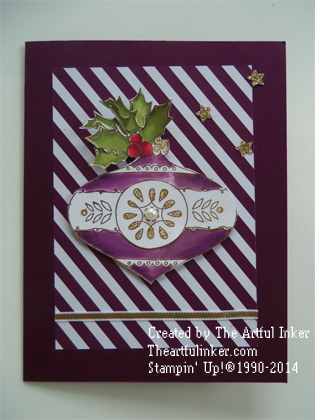 10 Days of Christmas, Card 9 featuring Christmas Buable from theartfulinker.com