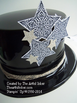 Bright and Beautiful New Year's Eve hat from theartfulinker.com
