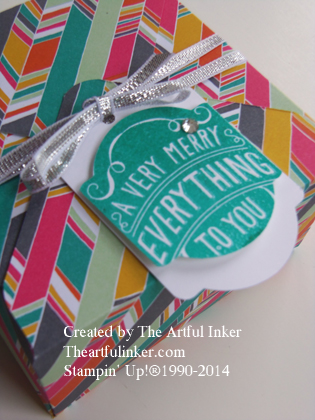 Confetti Celebration Gift Box with tag detail from theartfulinker.com