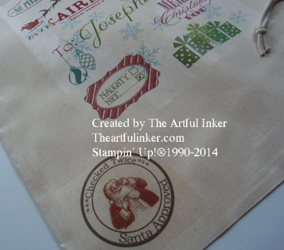 Custom Santa Sack detail from theartfulinker.com