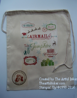 Custom Santa Sack from theartfulinker.com
