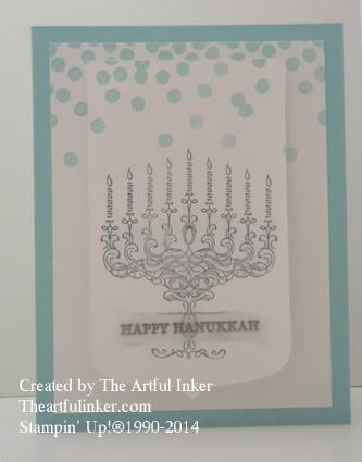 Happy Hanukkah card from theartfulinker.com