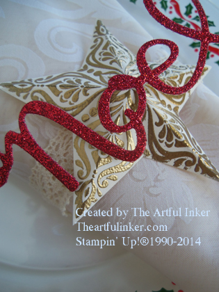 Noel Napkin Ring detail from theartfulinker.com
