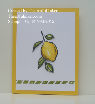 A Happy Day clean and simple card from theartfulinker.com